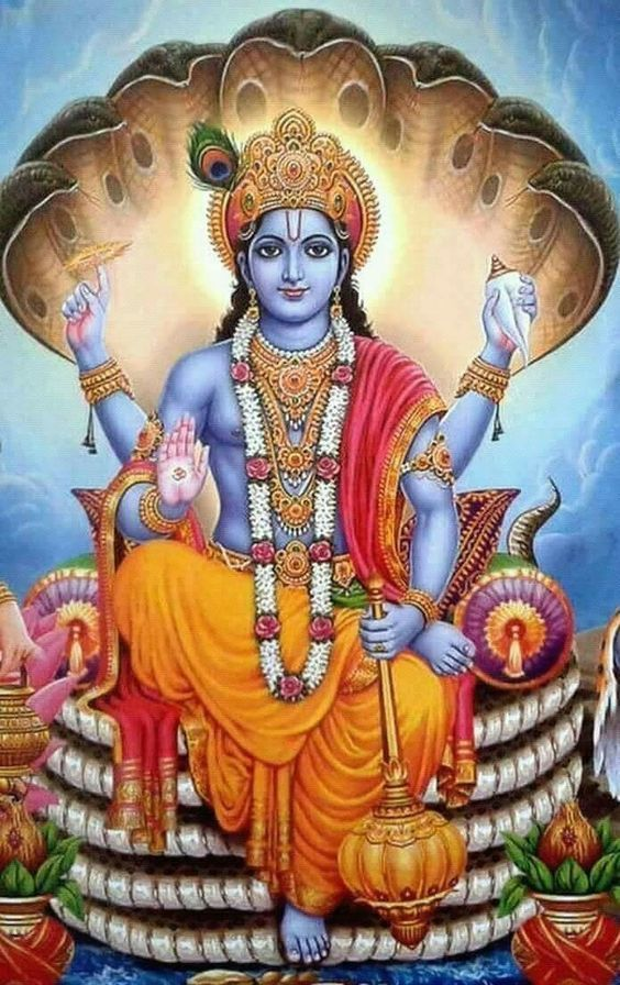 Bhagwan Vishnu On Sheshnag Hari Vishnu Ji  IMAGES, GIF, ANIMATED GIF, WALLPAPER, STICKER FOR WHATSAPP & FACEBOOK