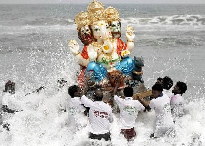 Ganapati Photos on Visarjan