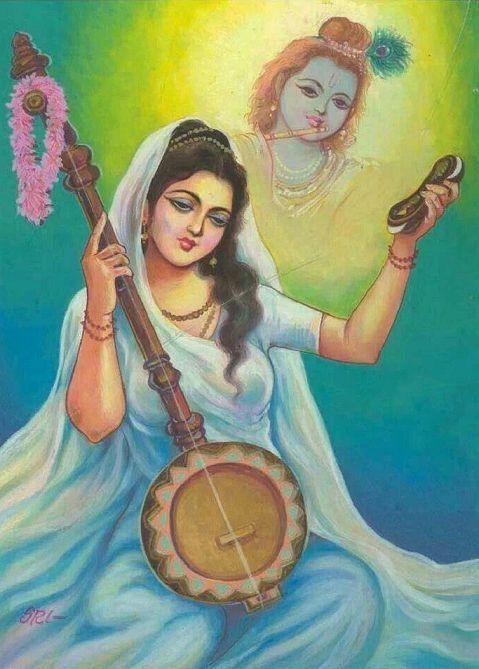 Krishn Bhakt Meera Bai Images