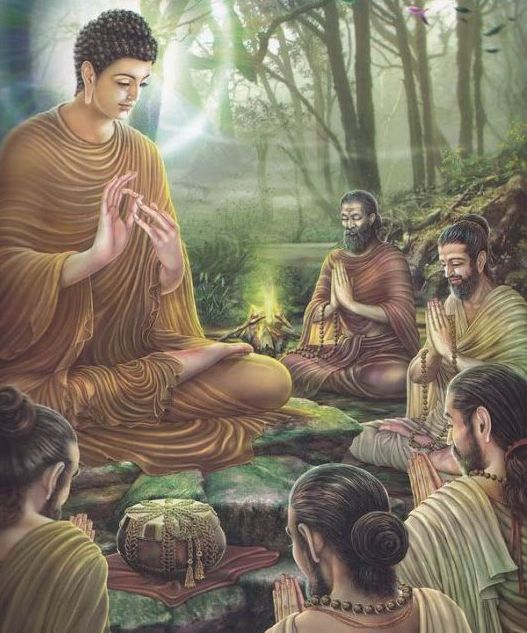 Lord Buddha Giving Updesh Images