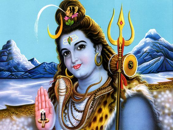 Lord Shiva With Trishul Images