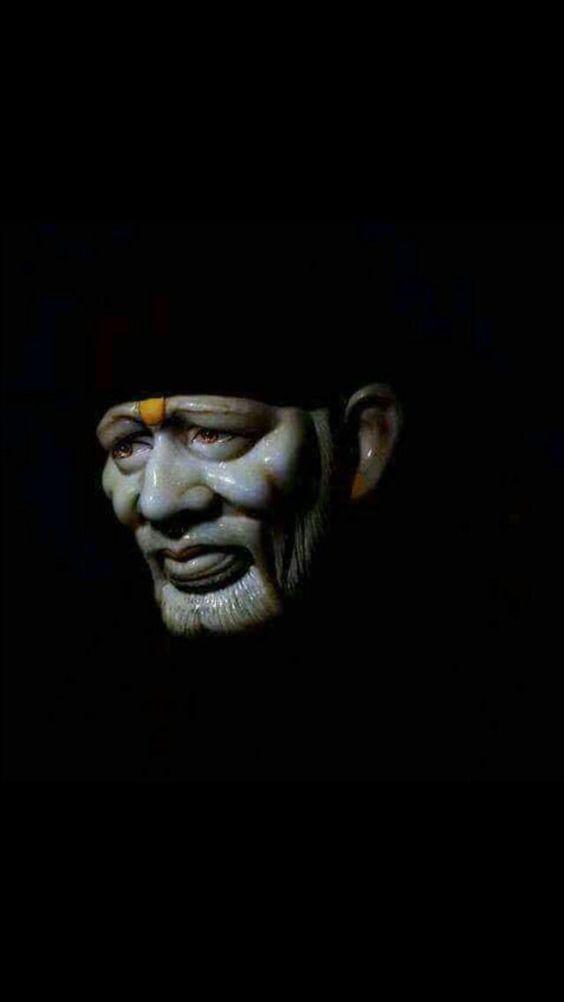 Sai Baba Image With Black Background DP