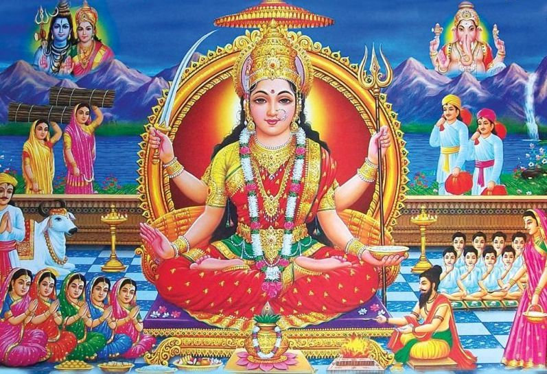 Santoshi Maa Wallpaper