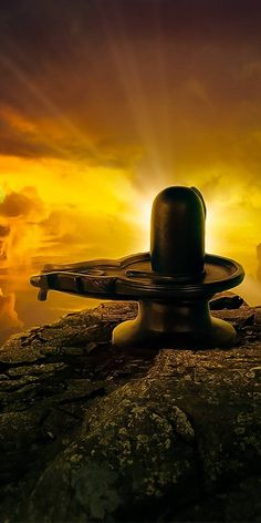 Shivling on Mountain Image